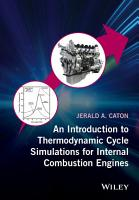 An Introduction to Thermodynamic Cycle Simulations for Internal Combustion Engines PDF