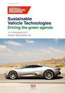 Sustainable Vehicle Technologies
