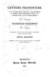 Lettere filosofiche su le vicende della filosofia, relativamente ai principi delle conoscenze umane, da Cartesio sino a Kant inclusivamente