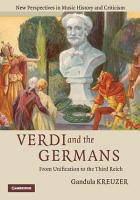 Verdi and the Germans PDF