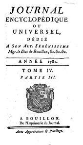 Journal encyclopedique ou Universel: Volume4,Partie3