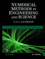 Numerical Methods in Engineering and Science PDF