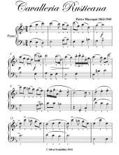 Cavalleria Rusticana Easy Piano Sheet Music