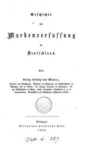 Geschichte der Marken verfassung in Deutschland