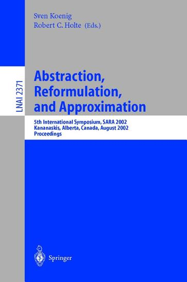 Abstraction  Reformulation  and Approximation PDF