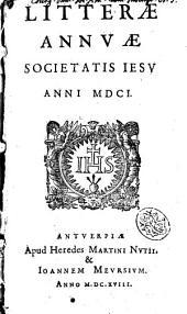 Litteræ annuæ Societatis Iesu anni 1601
