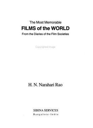 The Most Memorable Films of the World PDF