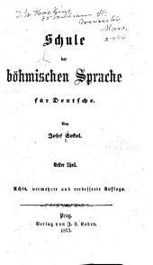 Schule der böhmischen Sprache für Deutsche