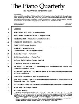 The Piano Quarterly PDF