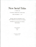 New Serial Titles PDF