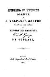 Ifigenia in Tauride, dramma