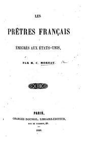 Les Prêtres français émigrés aux États-Unis