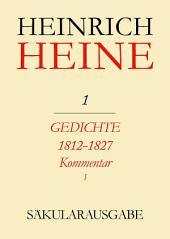 Gedichte 1812-1827. Kommentar