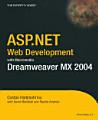 ASP NET Web Development with Macromedia Dreamweaver MX 2004