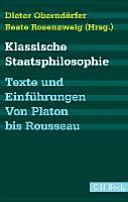 Klassische Staatsphilosophie PDF