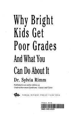 Why Bright Kids Get Poor Grades PDF