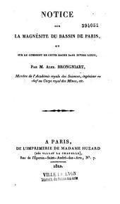 Notice sur la magnésite du bassin de Paris, et sur le gisement de cette roche dans divers lieux