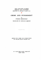The Harvard Classics Shelf of Fiction, Volume 18: Crime and Punnishment