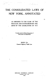 McKinney's Consolidated Laws of New York Annotated: With Annotations from State and Federal Courts and State Agencies, Book 18, Issue 835