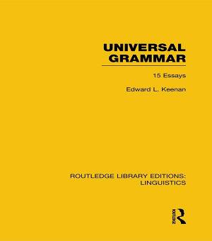 Universal Grammar  RLE Linguistics A  General Linguistics  PDF
