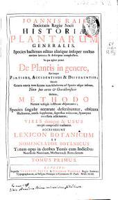 Joannis Raii ... Historia plantarum generalis ...