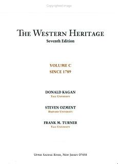 The Western Heritage Since 1789 Book