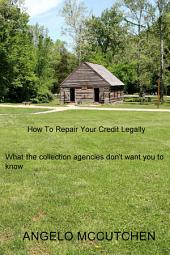 How To Repair Your Credit Legally: What the collection agencies don't want you to know