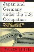 Japan and Germany Under the U S  Occupation PDF