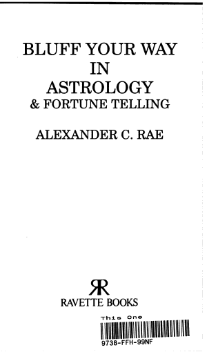Bluff Your Way in Astrology   Fortune Telling PDF