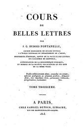 Cours de belles lettres: Volume3