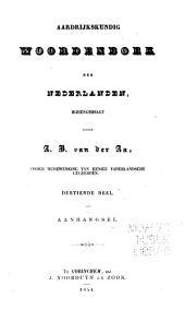 Aardrijkskundig woordenboek der Nederlanden: Volume 13,Nummer 2