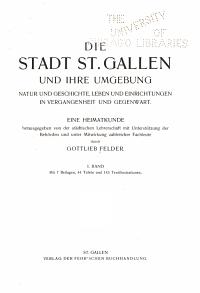 Die Stadt St  Gallen und ihre Umgebung PDF