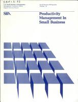 Productivity Management in Small Business PDF