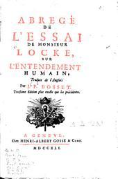 Abrégé de l'essai de Monsieur Locke sur l'entendement humain