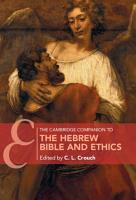 The Cambridge Companion to the Hebrew Bible and Ethics PDF