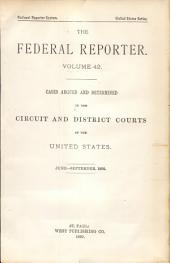 The Federal Reporter: Volume 42
