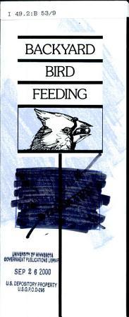 Backyard Bird Feeding PDF