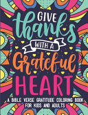 Bible Verse Gratitude Coloring Book for Kids and Adults