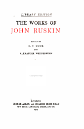 The Works of John Ruskin: Volume 5