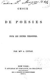 Choix de poésies pour les jeunes personnes
