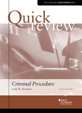 Quick Review of Criminal Procedure: Edition 5