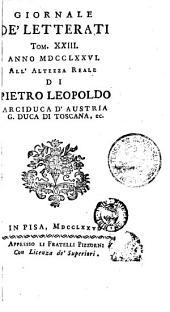 Giornale de' letterati: Volumi 23-24