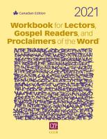 Workbook for Lectors  Gospel Readers  and Proclaimers of the Word   2021 PDF