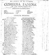 El Angel dela Guarda. Comedia famosa. Sometimes attributed to J. de Valdivielso
