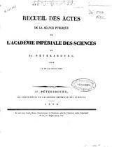 Recueil des actes de la séance publique de l'Académie Impériale des Sciences de St. Pétersbourg, tenue le 29 décembre 1833