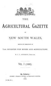 Agricultural Gazette of New South Wales: Volume 1