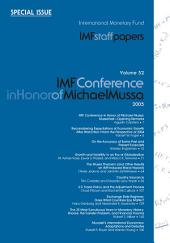IMF Staff Papers: Volume 52: Special Issue: IMF Conference in Honor of Michael Mussa