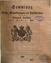 Sammlung der Gesetze  Verordnungen und Ausschreiben f  r das K  nigreich Hannover  vom Jahre    PDF