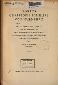 Doktor Christoph Scheurl von Nurnberg PDF