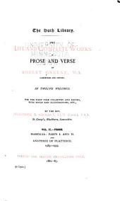 The Life and Complete Works in Prose and Verse of Robert Greene ...: Mamillia : parts I and II and anatomie of flatterie, 1583-1593